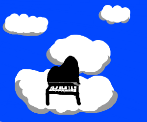 piano on a cloud