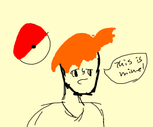 """Misty from pokemon saying """"this is mine"""""""