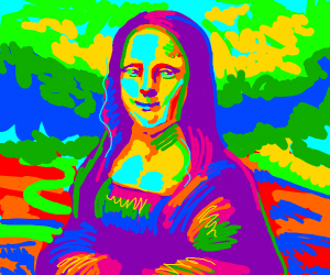 Mona Lisa colorful (before the aging)