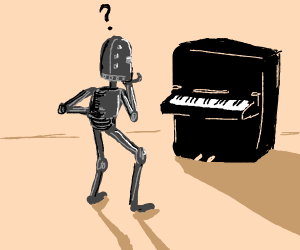 Robot tryna figure out what piano keys are