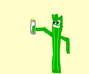celery taking a picture