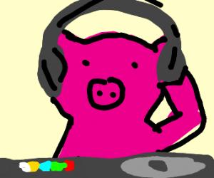 D-J pig in da house