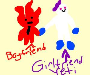 Firey Boi and his Yeti Girlfriend