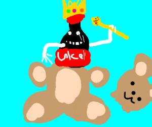 King of Pop in a bear suit