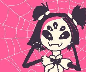 Pink/Black Hair. Different Eyes. Spiderweb.