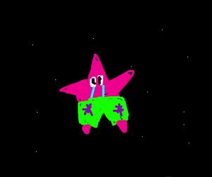 Sad starfish in space