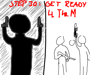 Step 29: Metal music starts