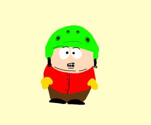 Cartman in green helmet