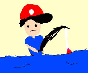 Pokemon Trainer Fishing