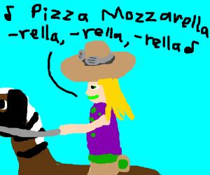 Farmer person talks about Pizza Mozzarella