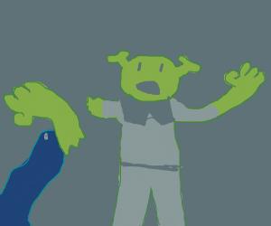Eel bites off Shrek's arm