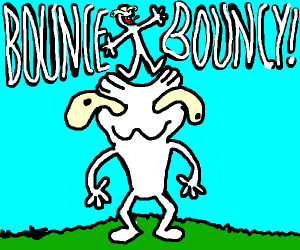 bouncing on head