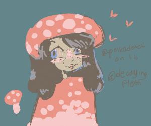 Cute mushroom girl