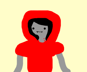 marceline dressed up as lil red riding hood