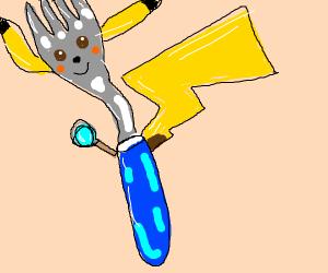 Fork as a pokemon