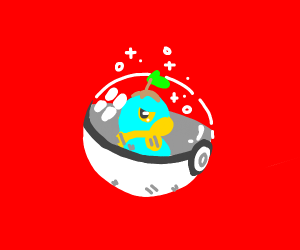 Shiny Turtwig in a Pokeball
