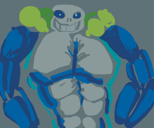 Sans with muscles