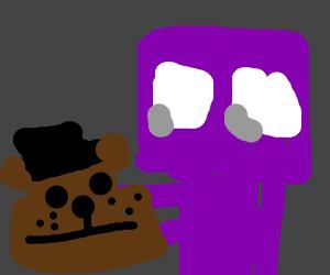 Fnaf's purple guy already purple