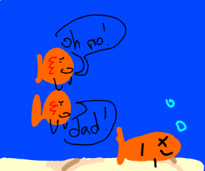 fish kids happy dad died