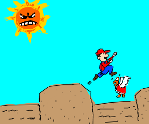 Sun angry u no like sun when angry