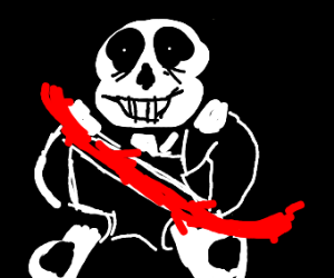 Sans has an ouchie