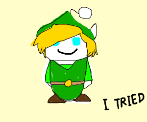 Link from Zelda but Reddit