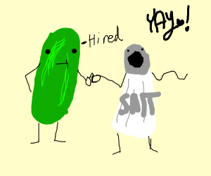 Pickle hires salt