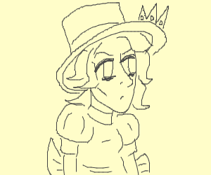 Princess wearing a Top Hat