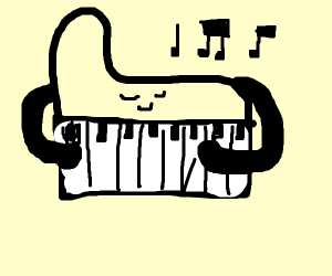 A piano playing it's self