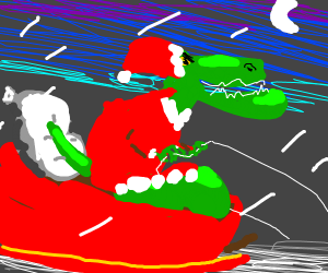 Santa T-Rex