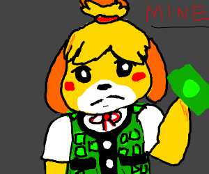 Isabelle steal taxes (animal crossing)