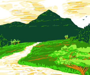 A peaceful green valley
