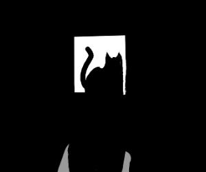 a black cat at 3 am