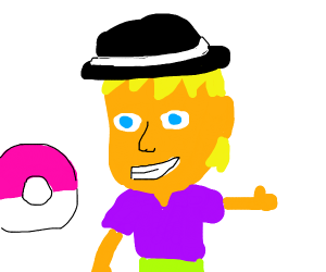 Who's that Pokemon? It's guy with a hat!