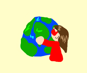 Girl loves Earth