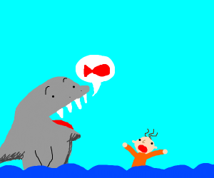 nicely shaded shark is actually pescatarian