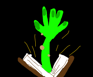Green Hand comes out of Magic Book