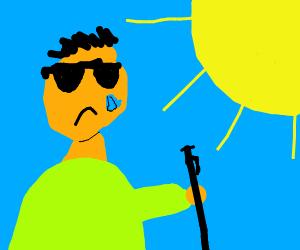 Blind man has never seen sun shine
