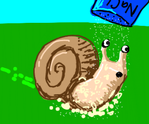 Pouring salt on a snail