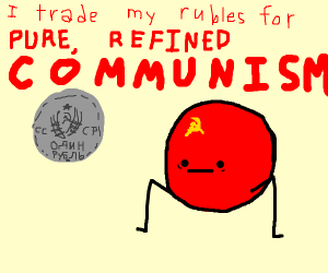 Exchanging rubles in the Soviet Union