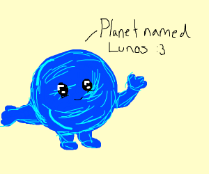 Lunos (a planet) going for a walk