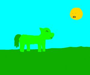 Happy Green pony