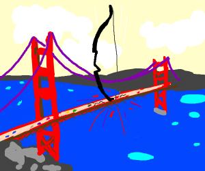 A Bow sinking into a Bridge