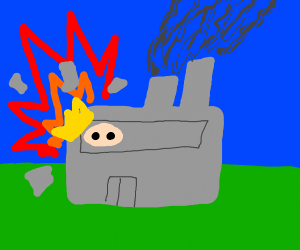 Explosion at the pigs factory