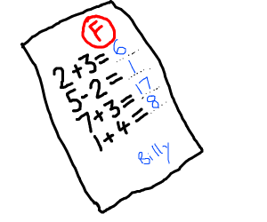 Failing simple math