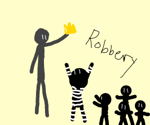 Robbers can't steal from tall man