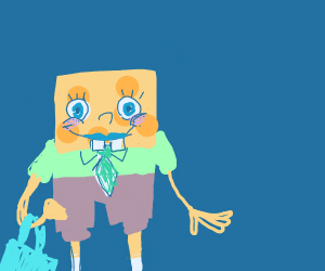 Spongebob w/lipstick & purse
