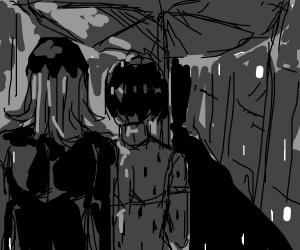 sharing ab umbrella