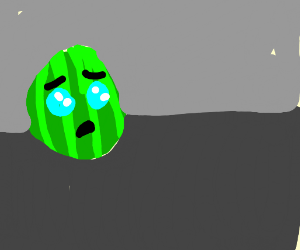 watermelon is sad that it is being eaten