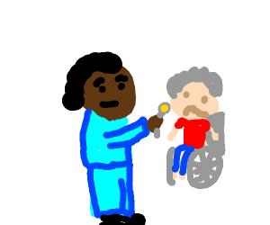feeding a disabled